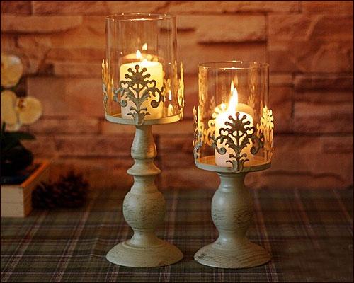 キャンドルスタンドアイアンガラスキャンドルホルダーアンティーク風シャビーおしゃれかわいいキャンドル アイアン キャンドルスタンド 国産品 キャンドルホルダー ガラス シャビーおしゃれ かわいいキャンドルライト アンティーク風 本物 Lサイズ