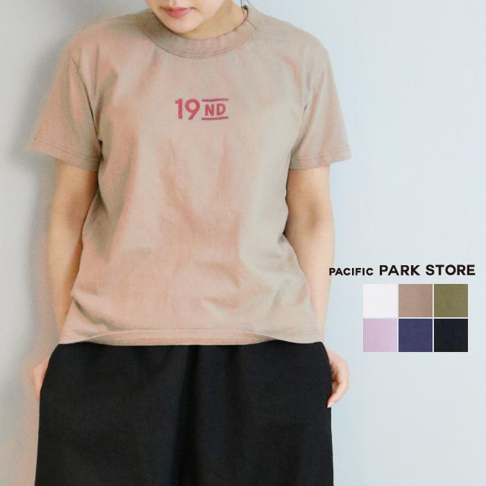 ロゴTシャツ プリントTシャツ PACIFICPARKSTORE パシフィックパークストア レディース 送料無料 正規逆輸入品 春夏 日本製 再再販 PPS-30108