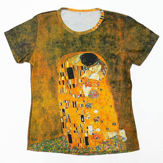 Kiss Gustav Klimt The Kiss ( 1907 piece ) largest, pattern ladies print t-shirts series