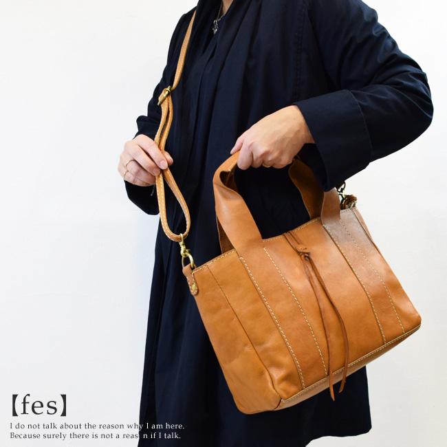fes フェス バッグ愛着がわくアンティークな表情。斜め掛けもできる2way牛革ショルダーバッグ【fes】[FA-DA-SA48030]