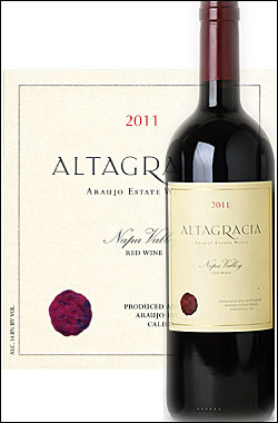 """●蔵出正規品《アローホ》 カベルネソーヴィニヨン """"アルタグラシア"""" ナパ・ヴァレー [2011] Araujo Estate Wines Cabernet Sauvignon ALTAGRACIA Napa Valley Proprietary Red 750ml [アラウホ エステート ナパバレー赤ワイン カリフォルニアワイン]"""