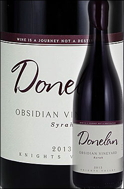 "●RP99点/蔵出し正規品《ドネラン・ファミリー》 シラー ""オブシディアン・ヴィンヤード"" ナイツ・ヴァレー [2013] Donelan Family Wines Syrah OBSIDIAN VINEYARD, Nights Valley, Sonoma County 750ml [ソノマ赤ワイン カリフォルニアワイン]"