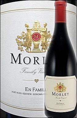 《モルレ(モレ)》 ピノノワール アン・ファミーユ, ソノマコースト [2012] Morlet Family Vineyards Pinot Noir En Famille, Sonoma Coast, Sonoma County 750ml [赤ワイン カリフォルニアワイン]
