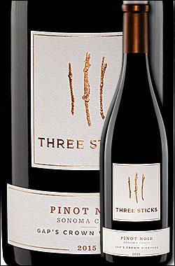"""《スリースティックス》 ピノ・ノワール """"ギャップスクラウン・ヴィンヤード"""" ソノマ・コースト [2015] Three Sticks Wines Pinot Noir Gap's Crown Vineyard, Sonoma Coast 750ml [赤ワイン カリフォルニアワイン]"""