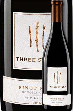 """《スリースティックス》 ピノ・ノワール """"PFV エステイト・ヴィンヤード"""" ソノマ・コースト [2015] Three Sticks Wines Pinot Noir PFV Price Family Estate Vineyard, Sonoma Coast 750ml [赤ワイン カリフォルニアワイン]"""