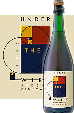 """《アンダー・ザ・ワイヤー (ベッドロック)》 ブリュット スパークリングワイン """"ピノノワール ロゼ"""" ハーシュ・ヴィンヤード, フォートロスシービュー [2014] Under the Wire (Bedrock) Brut Pinot Noir ROSE, Hirsch Vineyard, Fort Ross-Seaview, Sonoma Coast 750ml"""