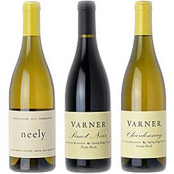 """●見納め3本SET《ヴァーナー》 シャルドネ """"ニーリー・ホーリーズ・キュヴェ"""" [2010] """"ホーム・ブロック"""" [2007] ピノノワール """"アッパーピクニック"""" [2013] Varner Chardonnay NEELY HOLLYS CUVEE, HOME BLOCK, Pinot Noir UPPER PICNIC, Santa Cruz Mountains750ml"""