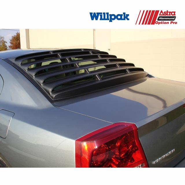 ダッジ チャージャー WILLPAK ウィルパック  ウインドルーバー テクスチャーブラック ABS '06y~'10y【アメ車パーツ】