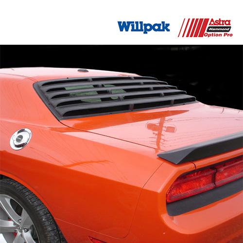 ダッジ チャレンジャー WILLPAK ウィルパック  ウインドルーバー テクスチャーブラック ABS '08y-'19y【アメ車パーツ】