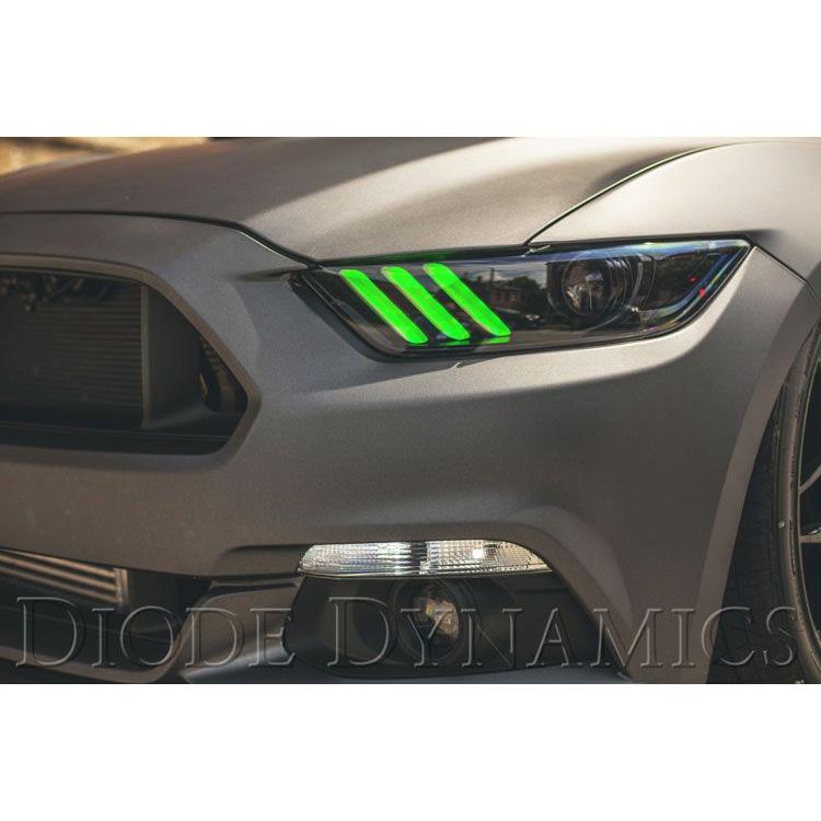 【マスタングカスタム】FORD MUSTUNG フォード マスタング ブルートゥースでお好みのカラーに調整 LED デイライトキット ダイオードダイナミクス/DIODEDYNAMICS マルチカラー '15y~'17y【アメ車パーツ】