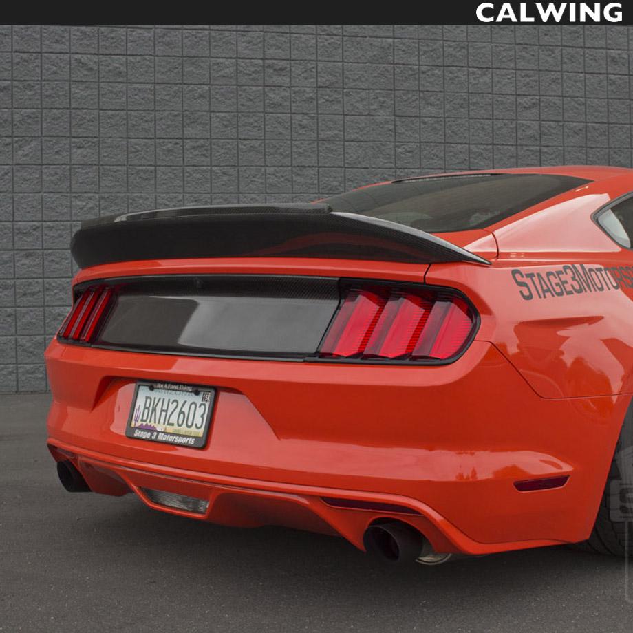 """FORD/フォード MUSTANG/マスタング トランクリッドスポイラー リア カーボンファイバー """"15y~""""17y【アメ車パーツ】"""