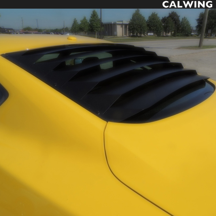 FORD/フォード MUSTANG/マスタング リアウインドルーバー ブラックアルミニウム製 '15y~'17y【アメ車パーツ】