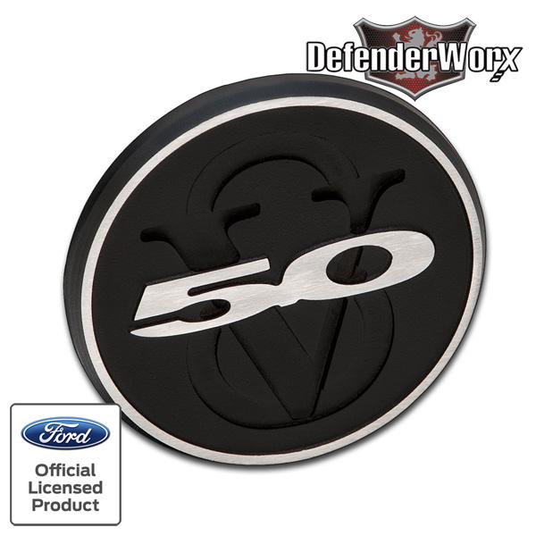 マスタング ディフェンダーワークス トランクバッチ トランクバッチインサート マットブラック V8 '10y~'15y【アメ車パーツ】