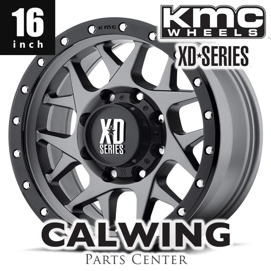 【正規品】 デリカD5系 エクストレイル ホイール KMC XD127 BULLY マットグレイ/ブラックレインホーシング 16インチ 7J+35 1本