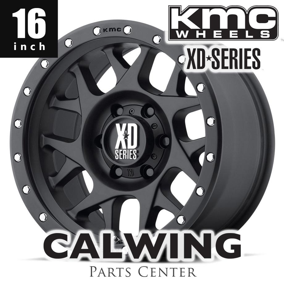 【正規品】 デリカD5系 エクストレイル ホイール KMC XD127 BULLY サテンブラック 16インチ 7J+35 1本
