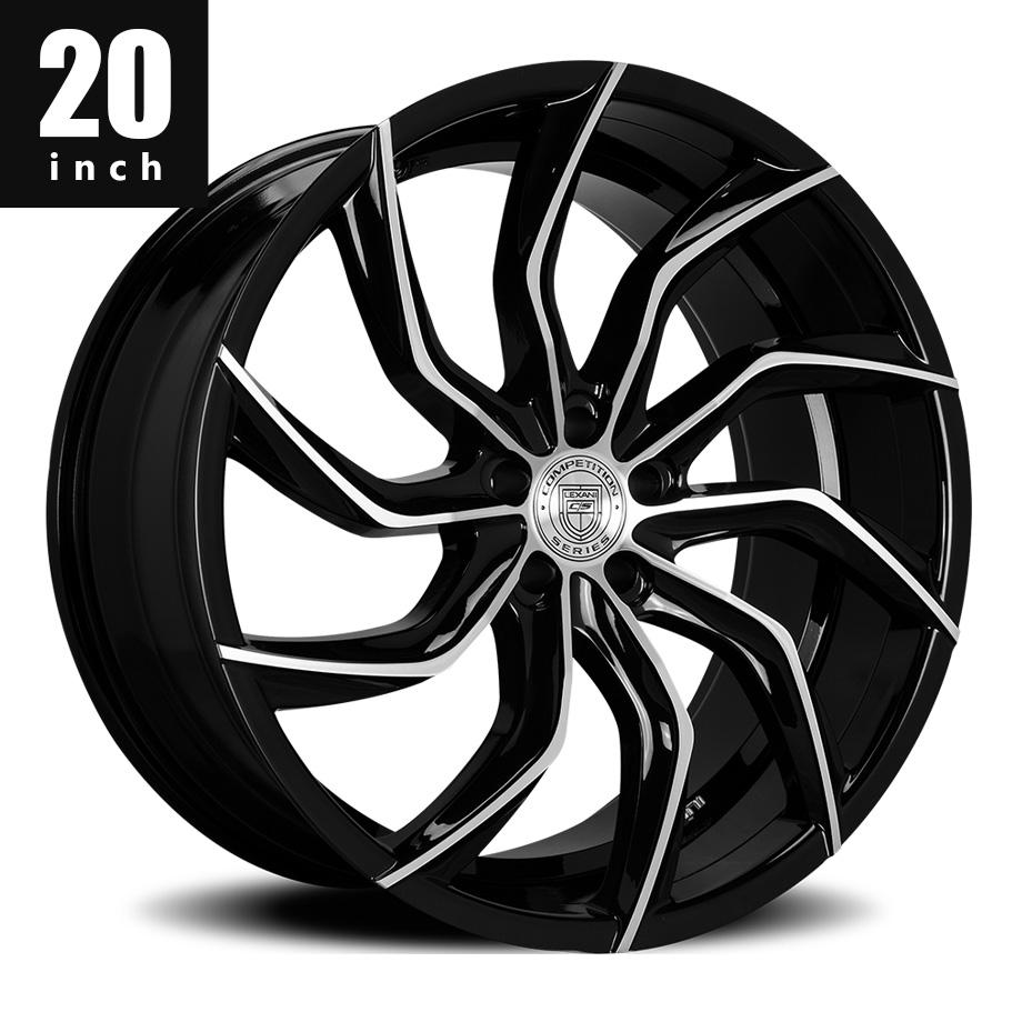 300 300C ホイール レグザーニ レクサーニ LEXANI MATISSE ブラックマシン 20インチ タイヤセット【アメ車パーツ】