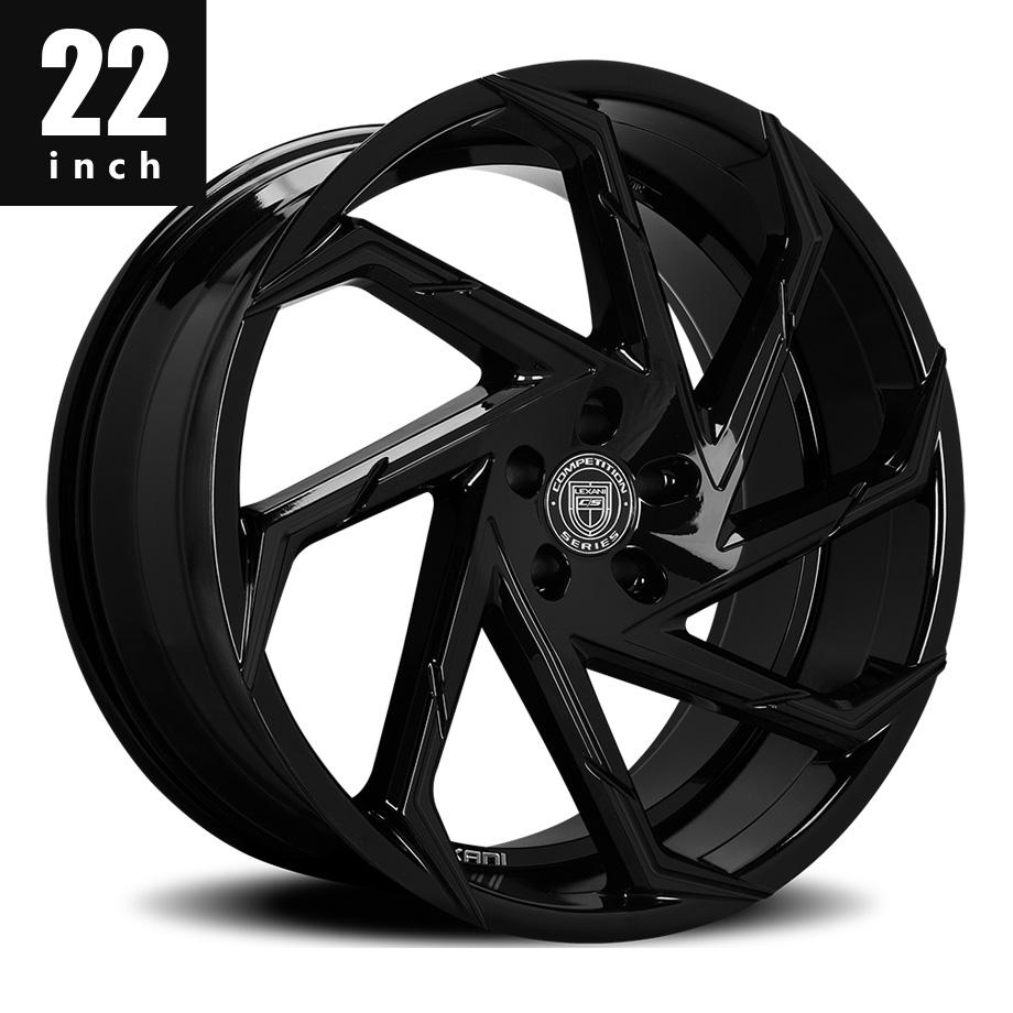 300 300C ホイール レグザーニ/LEXANI CYCLONE フルブラック 22インチ タイヤセット【アメ車パーツ】