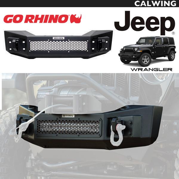 【オフロードカスタム】JEEP/ジープ ラングラー JL GORHINO/ゴーライノ ロックラインフロントバンパー テクスチャーブラック オフロードカスタム FROM USA '18y~【アメ車パーツ】