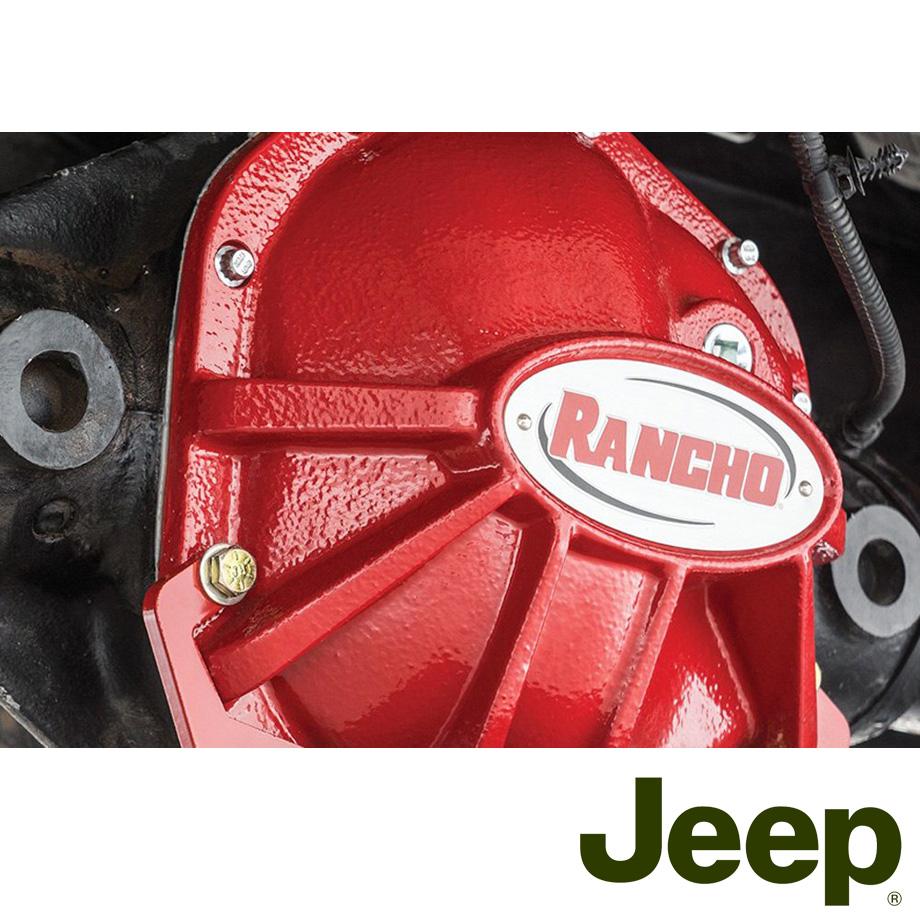 ラングラー デフカバー Dana44 レッド RANCHO/ランチョ ロックギア '07y~'16y【アメ車パーツ】