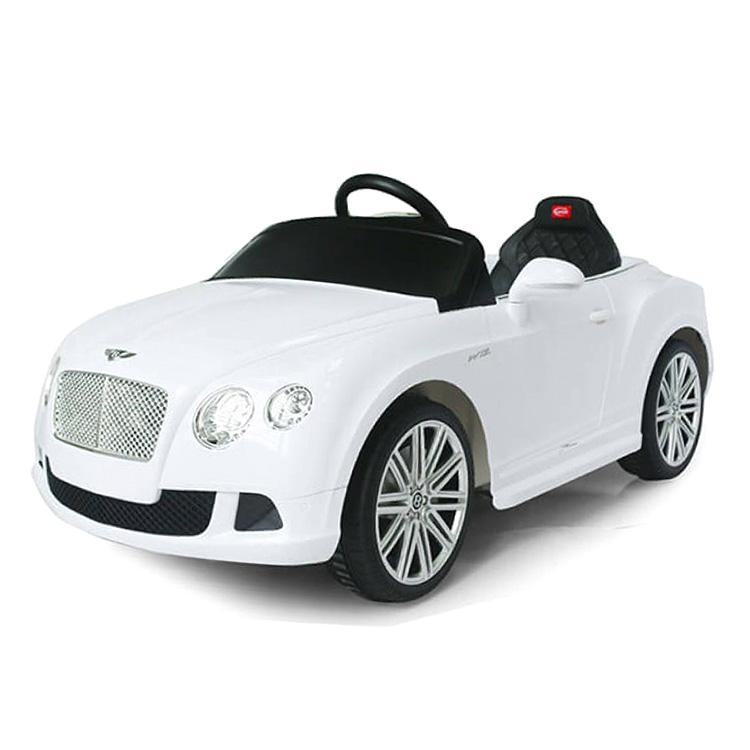 電動乗用 子供用ラグジュアリーカー キッズ ベビー おもちゃ トイ ベントレー コンチネンタル ホワイト ライト点灯OK プロポコントローラー付属 12V