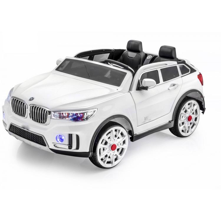 電動乗用 子供用ラグジュアリーカー キッズ ベビー おもちゃ トイ BMW X7 スポーツエディション ホワイト ライト点灯OK プロポコントローラー付属 2人乗り 12V