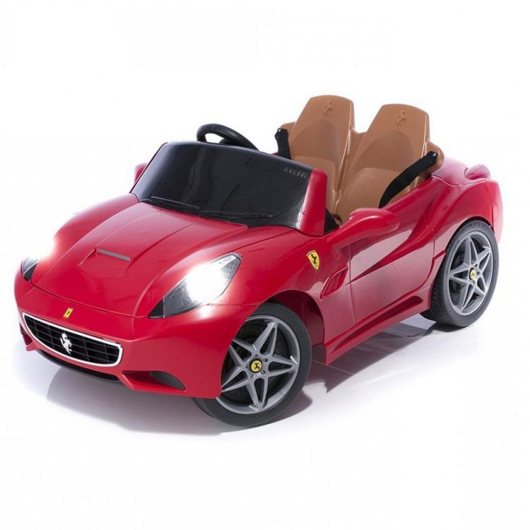 電動乗用 子供用ラグジュアリーカー キッズ ベビー おもちゃ トイ フェラーリ カリフォルニア レッド ライト点灯OK プロポコントローラー付属 2人乗り 12V