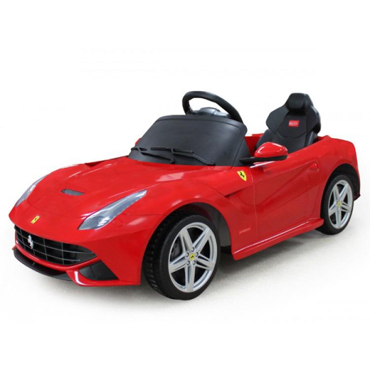 電動乗用 子供用ラグジュアリーカー キッズ ベビー おもちゃ トイ フェラーリ F12 レッド ライト点灯OK プロポコントローラー付属 12V