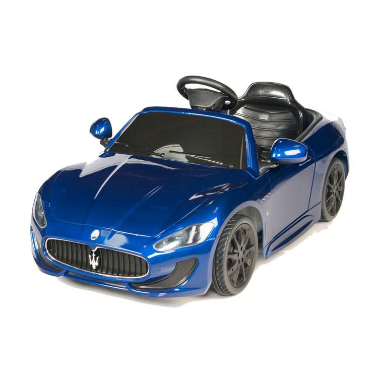 電動乗用 子供用ラグジュアリーカー キッズ ベビー おもちゃ トイ マセラティ グランツーリスモ ブルー ライト点灯OK プロポコントローラー付属 12V