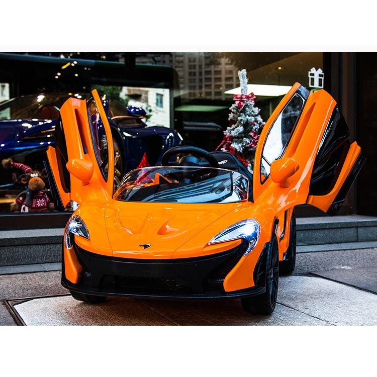 電動乗用 子供用ラグジュアリーカー キッズ ベビー おもちゃ トイ マクラーレン オレンジ ライト点灯OK プロポコントローラー付属 12V