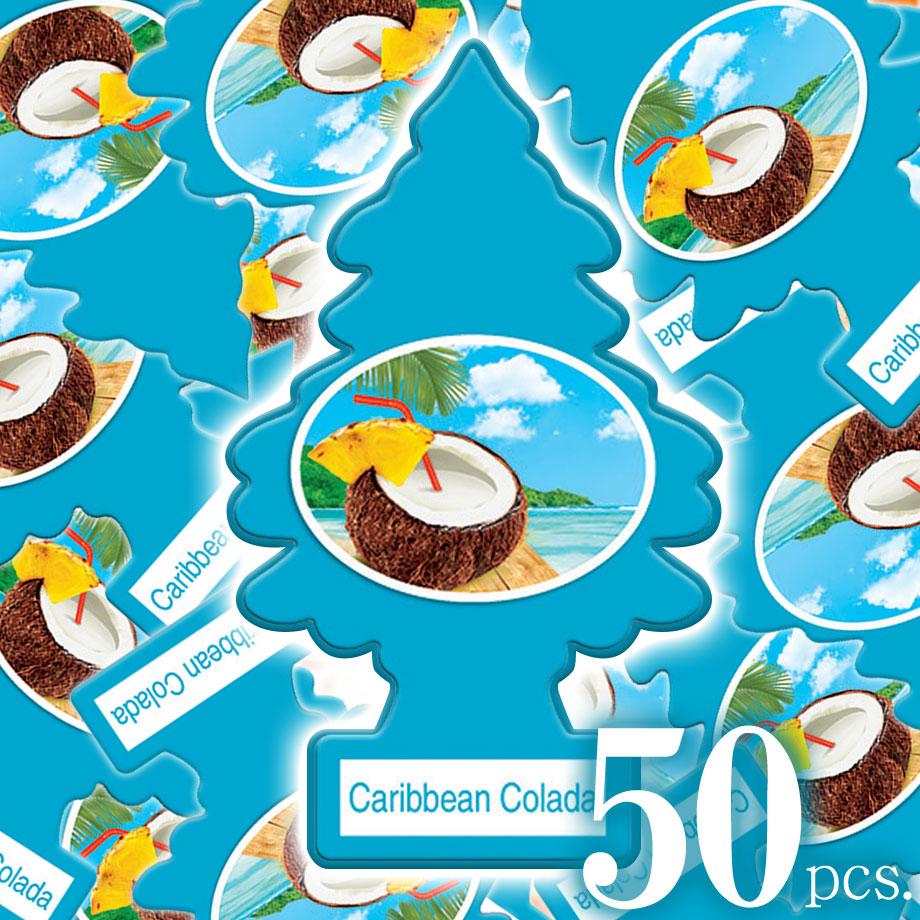 アメリカの香り エアフレッシュナー 芳香剤 リトルツリー LittleTrees カリビアンコラーダ Caribbean Colada 50pc Made in USA