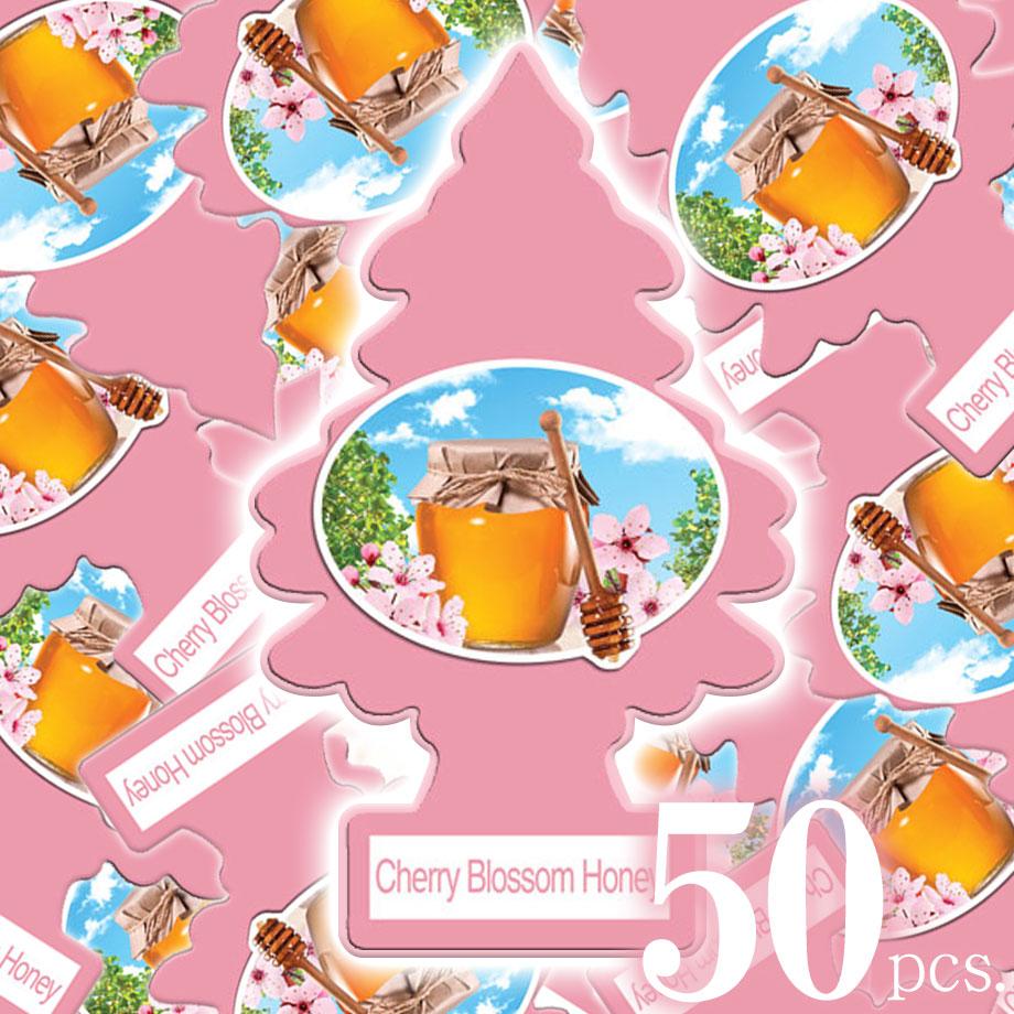 アメリカの香り エアフレッシュナー 芳香剤 リトルツリー LittleTrees チェリーブロッサムハニー Cherry Blossom Honey 50pc Made in USA