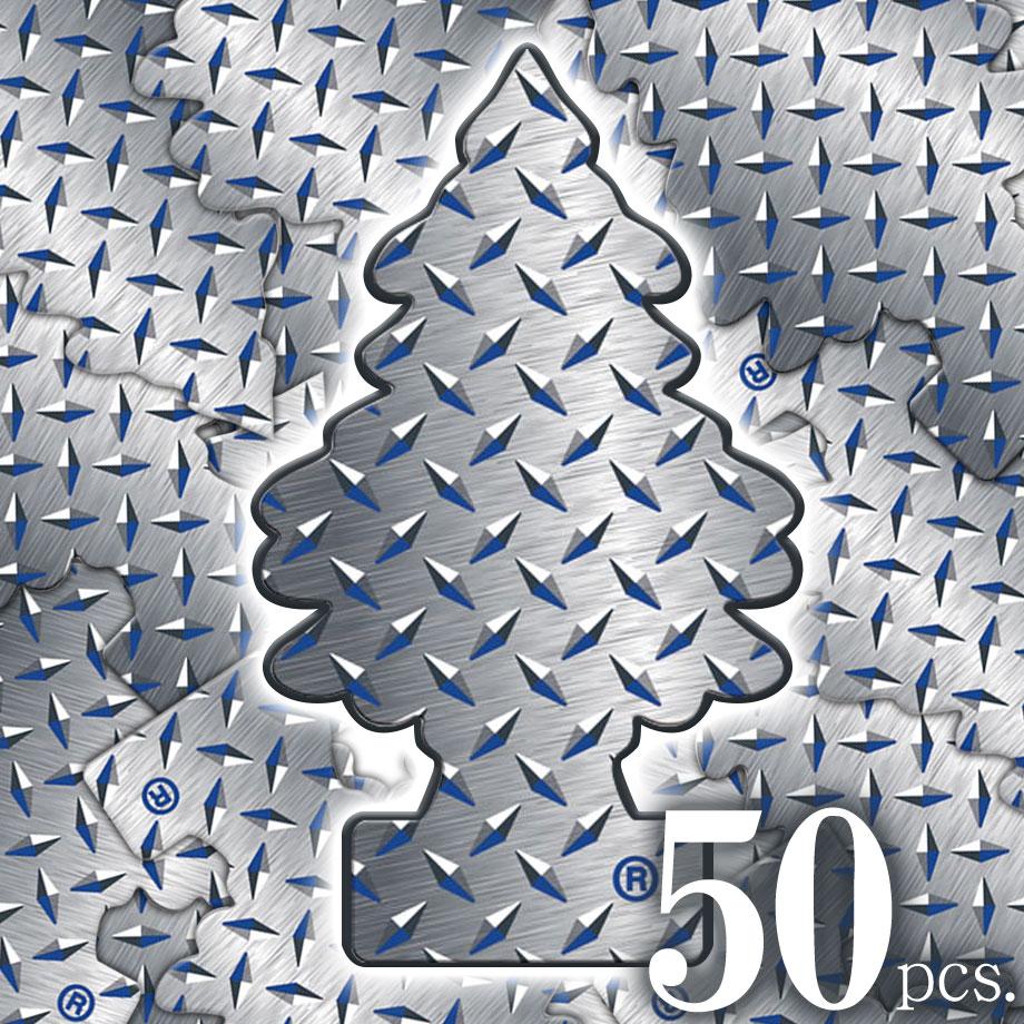 アメリカの香り エアフレッシュナー 芳香剤 リトルツリー LittleTrees ピュアスチール Pure Steel 50pcs Made in USA