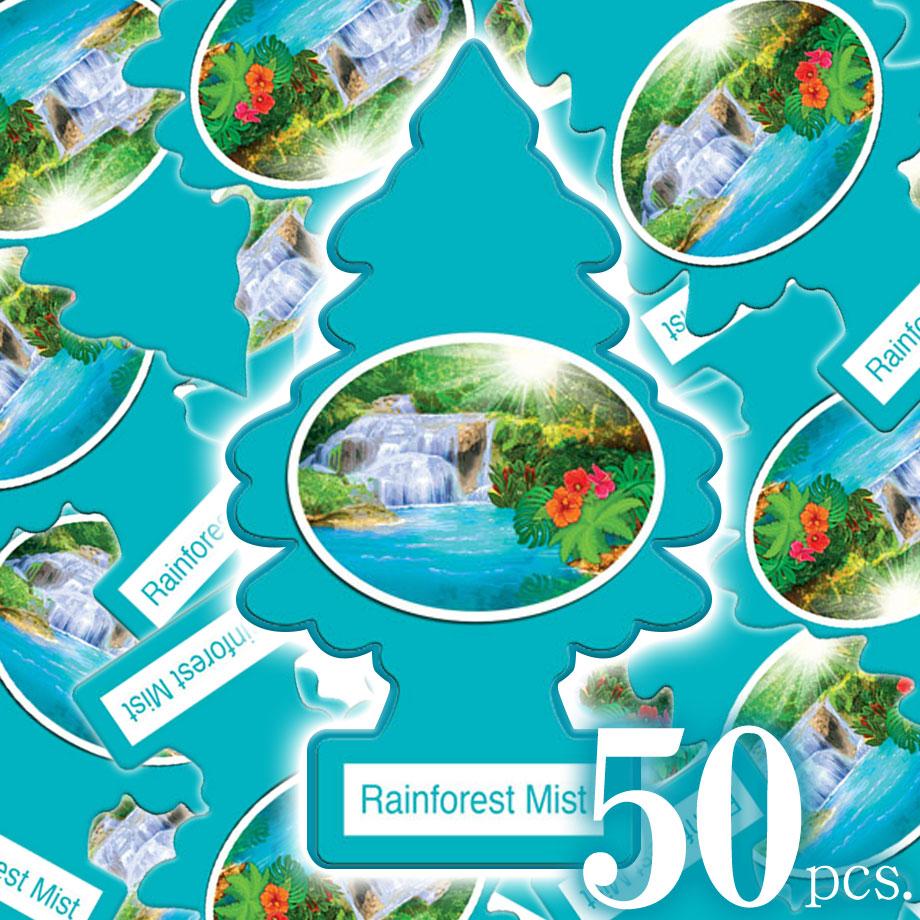 エアフレッシュナー 芳香剤 リトルツリー レインフォレストミスト Rainforest Mist 50pcs Made in USA