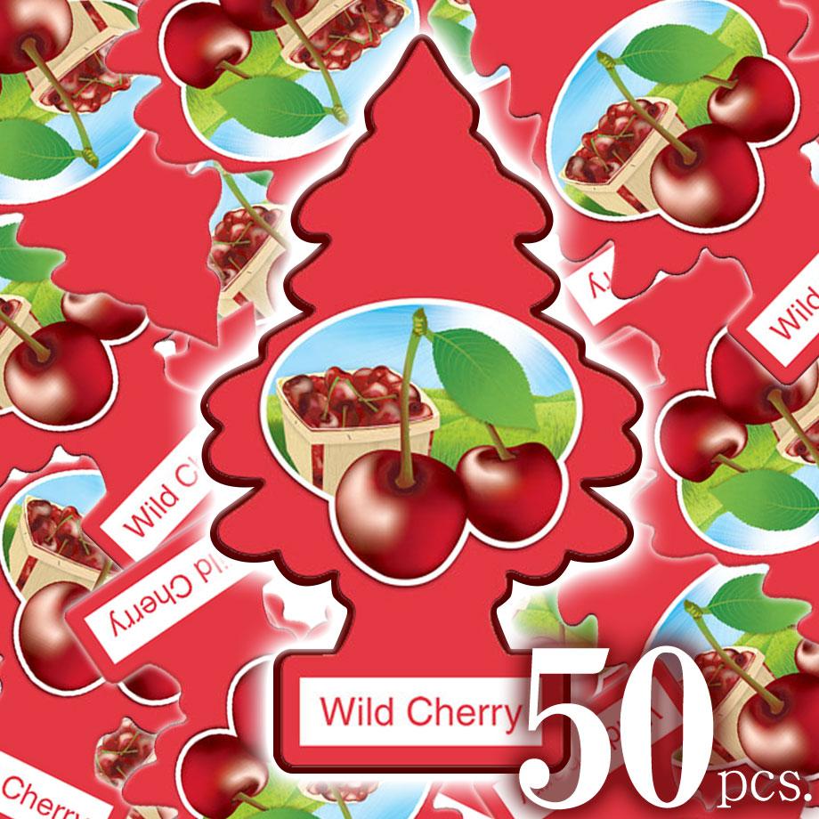 アメリカの香り エアフレッシュナー 芳香剤 リトルツリー LittleTrees ワイルドチェリー Wild Cherry 50pcs Made in USA