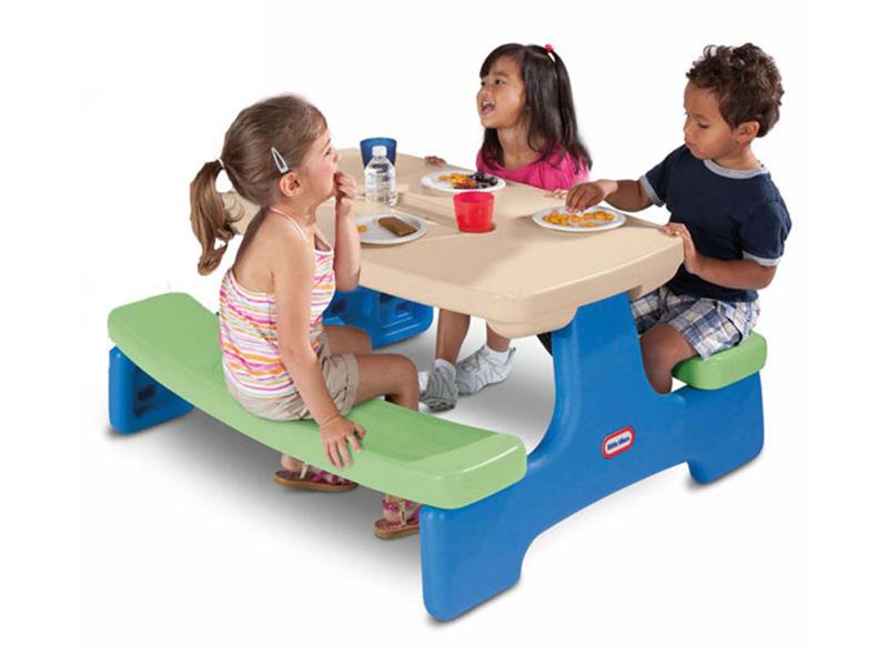 LITTLE TIKES リトルタイクス テーブル&ベンチ ミドル 折りたたみ式 子供用 おもちゃ kids 家庭用 アウトドア お庭 男の子 女の子 おままごと 机 table Bench