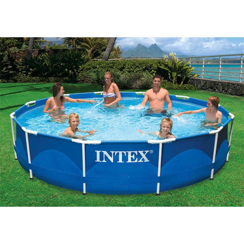 【プール 大型 家庭用 BIG】インテックス INTEX メタルフレームプール 12フィートx30インチ
