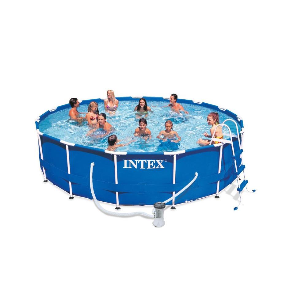 【プール 大型 家庭用 BIG】インテックス INTEX メタルフレームプール 15フィートx42インチ