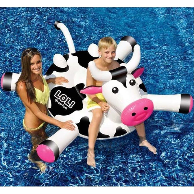 【アメリカ直輸入 トイ オモチャ キッズ】 SWIMLINE スイムライン ウォーターフロート 浮き輪 LOLカウ 牛