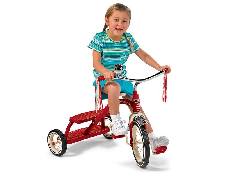 Radio Flyer ラジオフライヤー クラシック トライサイクル 3輪車 三輪車 デュアルデッキ レッド 12インチ
