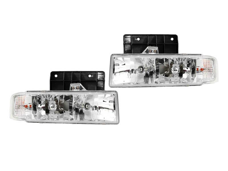 アストロ サファリ プラチナムヘッドライト TYPE2 '95y~'05y【アメ車パーツ】