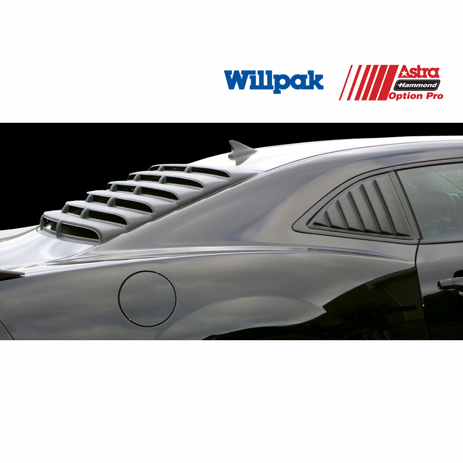 シボレー カマロ クーペ WILLPAK ウィルパック  ウインドルーバー テクスチャーブラック ABS '10y~'13y【アメ車パーツ】