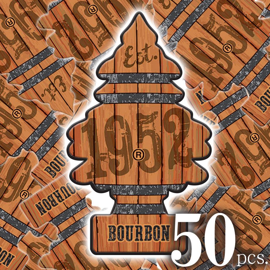2018新作!アメリカの香り エアフレッシュナー 芳香剤 リトルツリー LittleTrees バーボン Bourbon 50pcs Made in USA