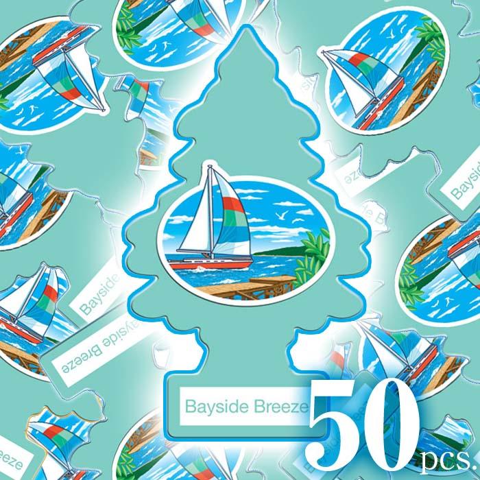 アメリカの香り エアフレッシュナー 芳香剤 リトルツリー LittleTrees ベイサイドブリーズ BaysideBreeze 50pcs Made in USA
