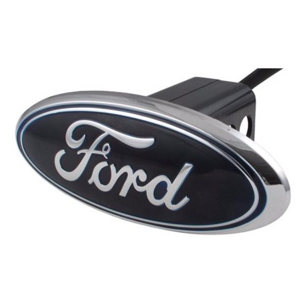 FORD車用 ヒッチカバー フォード クローム レッドシグナル LED付き リース REESE ヒッチメンバー用 汎用品