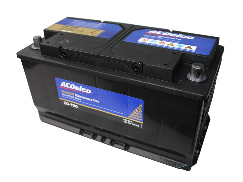 バッテリー 安心と信頼のACデルコ製 ACDelco LN5 20-100 トップターミナル アメ車 欧州車 ベンツ BMW 等