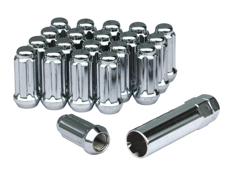 ホイールナット クローズ 袋タイプ 14×1.5 ロングタイプ 20本 ソケットアダプターセット