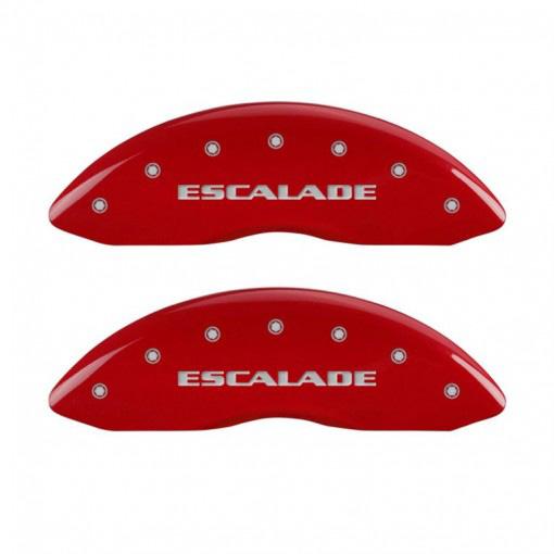 【車種専用設計】エスカレード ブレーキキャリパーカバー エスカレードロゴ  レッド 4PC '07y~'16y【アメ車パーツ】