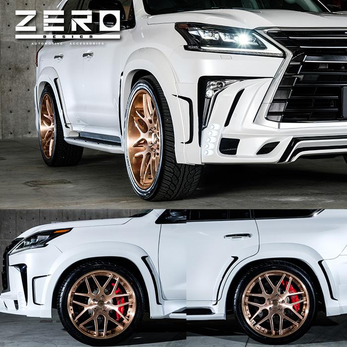 LEXUS レクサス LX570 ZERO DESIGN ゼロデザイン オーバーフェンダーキット FRP製 黒ゲルコート仕上げ '15y-【逆輸入車/国産車パーツ】