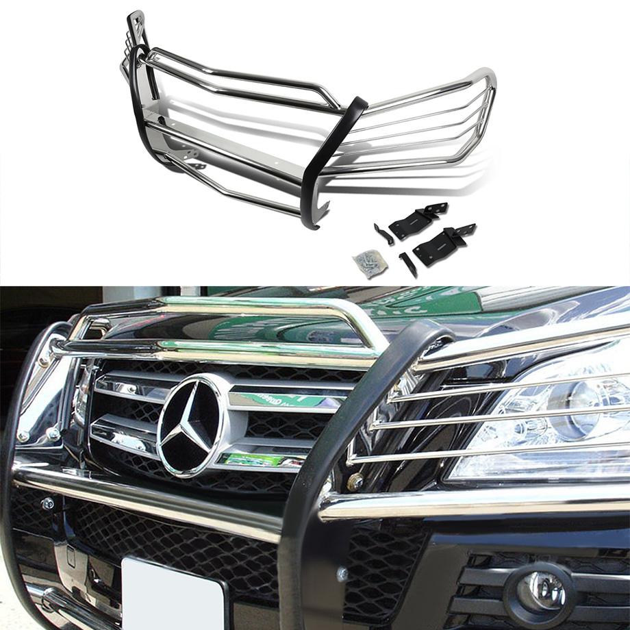 【車種専用設計】Mercedes-Benz/メルセデスベンツ X164 GLクラス フロントグリルガードキット クローム ステンレス製【欧州車パーツ】