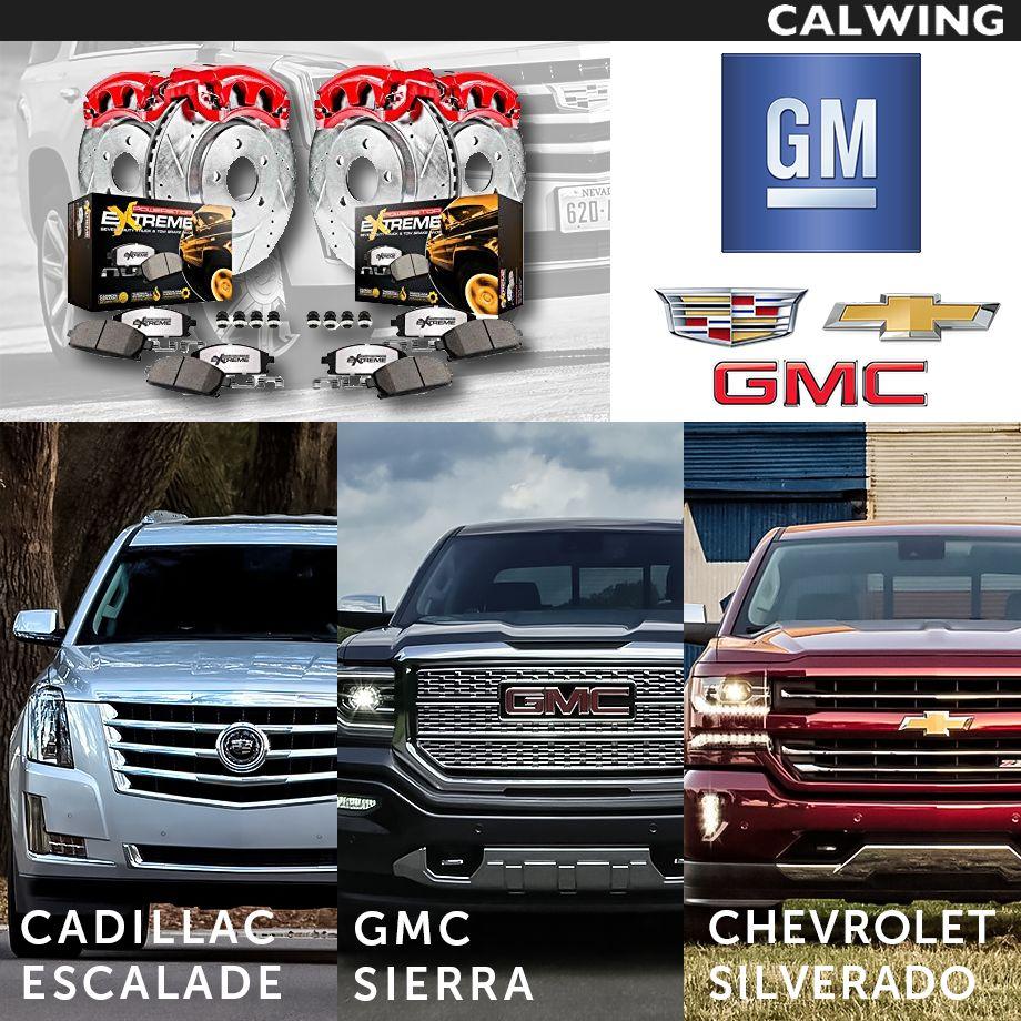 Cadillac/キャデラック ESCALADE/エスカレード 強化パフォーマンスブレーキキット フロント&リア ドリルド&スリット 強化ブレーキパット付き レッドブレーキキャリパー '15y~【アメ車パーツ】